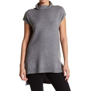 Abound Turtleneck High Low Slit Tunic Knit Sweater